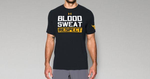 fe8a9eac477f8f Men s UA x Project Rock Blood Sweat Respect T-Shirt