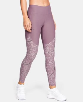언더아머 Under Armour Womens UA Vanish Printed Leggings,Purple Prime (1305437-521)