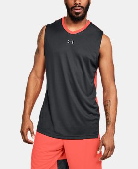 언더아머 UA Under Armour Mens UA Select Tank,Black (1305742-002)