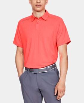 언더아머 Under Armour Mens UA Threadborne Outer Glow Polo