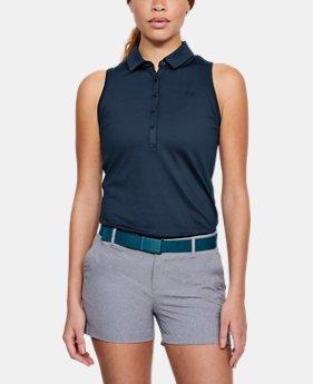 언더아머 여성 골프의류 UA Zinger 폴로 민소매티 아카데미, Womens UA Zinger Sleeveless Polo