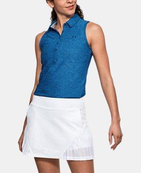 언더아머 여성 골프의류 UA Zinger 폴로 민소매티 모로칸블루, Womens UA Zinger Sleeveless Polo