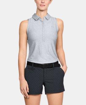 언더아머 여성 골프의류 UA Zinger 폴로 민소매티 그레이, Womens UA Zinger Sleeveless Polo