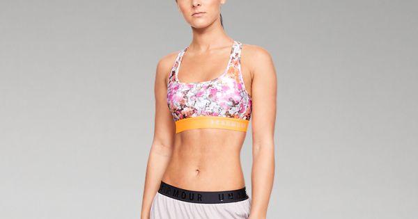 8708a65dec Women s Armour® Mid Crossback Print Sports Bra