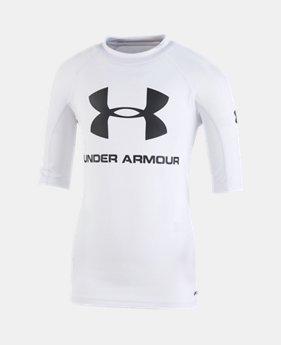 언더아머 남아용 반팔 티셔츠 Under Armour Boys Pre-School UA Rashguard Short Sleeve Shirt