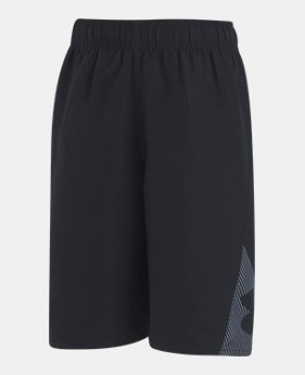 언더아머 UA 남아용 반바지 Under Armour Boys' Pre-School UA Entry Solid Boardshorts,Black (1308567-002)