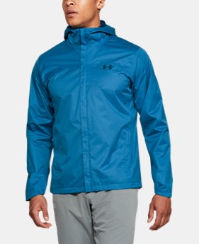 언더아머 UA Under Armour Mens UA Overlook Jacket,CRUISE BLUE (1309336-899)