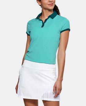언더아머 여성 골프의류 UA Threadborne 자가드 폴로 반팔티 트로피컬, Womens UA Threadborne Jacquard Polo