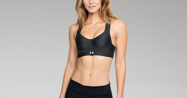 Under Armour Womens Warp Knit High Heathered Sports Bra Under Armour Apparel 1313285