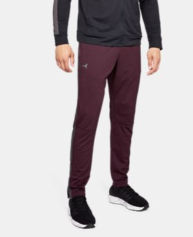 언더아머 UA Under Armour Mens UA Sportstyle Pique Pants,DARK MAROON (1313201-600)