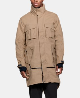언더아머 Under Armour Mens UAS Washed Canvas Jacket,TAN (1316046-781)