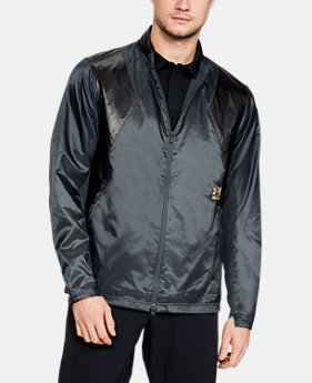 언더아머 Under Armour Mens UA Perpetual Jacket,STEALTH GRAY (1316583-008)