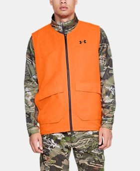 언더아머 Under Armour Mens UA Blaze Vest,Blaze Orange (1316737-825)