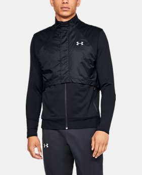 언더아머 Under Armour Mens ColdGear Reactor Run Vest,Black (1317497-001)
