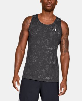 언더아머 UA Under Armour Mens UA Microthread Streaker Singlet,Charcoal (1317560-020)