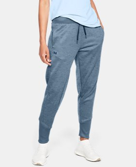 언더아머 UA Under Armour Womens Armour Fleece Pants,STATIC BLUE (1317895-414)
