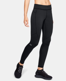 언더아머 Under Armour Womens ColdGear Armour Leggings,Black (1318026-001)