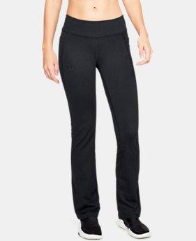 언더아머 Under Armour Womens UA All Around Modern Boot Pants,Black (1318124-001)