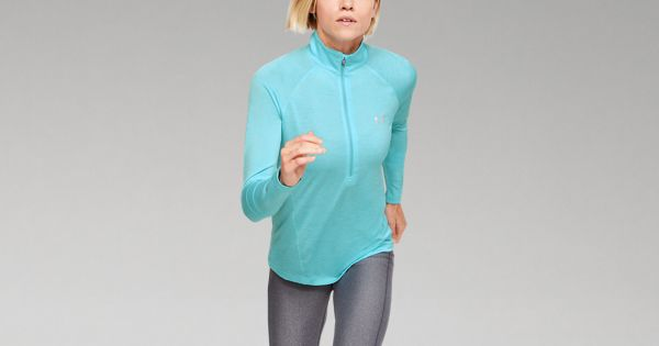 Twist L Blau Under Armour Damen Oberteil Tech 1//2 Zip 1320128-485