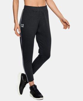 언더아머 UA 스포츠 바지 Under Armour Womens UA Tapered Slouch Pants,Black (1320630-001)