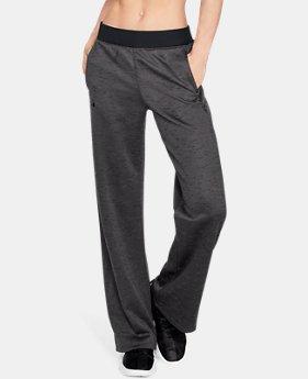 언더아머 우먼 아머 플리스 오픈 팬츠 Under Armour Womens Armour Fleece Open Pants