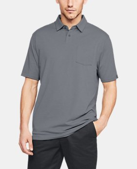 언더아머 Under Armour Mens Charged Cotton Scramble Polo