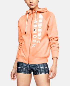 언더아머 UA 라이벌 플리스 집업 후드티 Under Armour Womens UA Rival Fleece Full Zip Hoodie