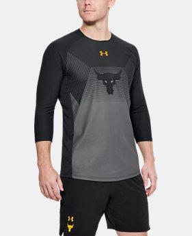 [언더아머 프로젝트 락 컬렉션] 티셔츠 Under Armour Mens Project Rock Vanish ¾ Sleeve,Black (1321406-001)