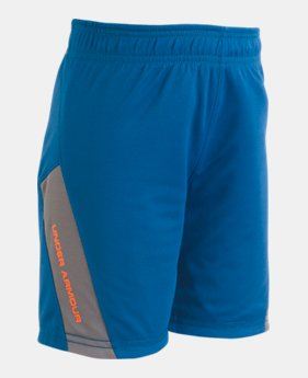 언더아머 UA 남아용 반바지 Under Armour Boys Pre-School UA Reversible Shorts,Moroccan Blue (1321554-487)