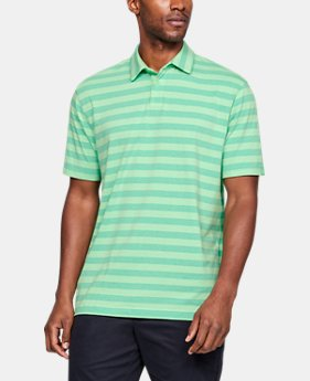 언더아머 Under Armour Mens UA Charged Cotton Scramble Stripe Polo