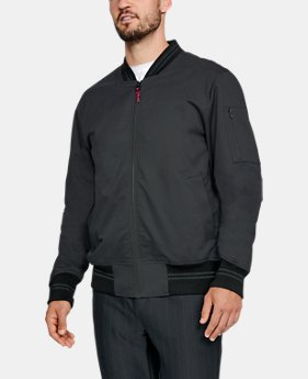 언더아머 Under Armour Mens UA Sportswear Twill Bomber Jacket