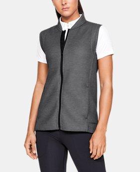 언더아머 Under Armour Womens UA Move Light Vest,BLACK FULL HEATHER (1326873-001)