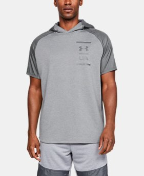 언더아머 Under Armour Mens UA MK-1 Terry Short Sleeve Hoodie