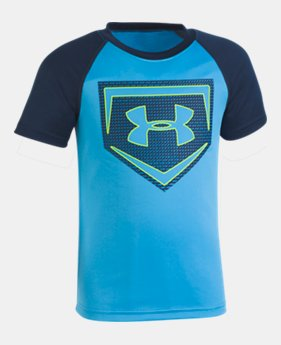 언더아머 Under Armour Boys Pre-School UA Sync Home Plate T-Shirt,Canoe Blue (1328456-713)