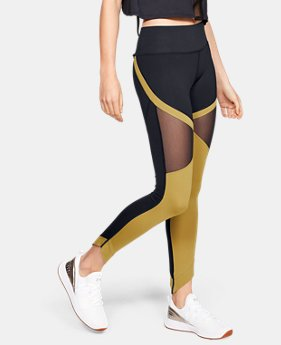 언더아머 Under Armour Womens UA Misty Leggings,Black (1329104-001)
