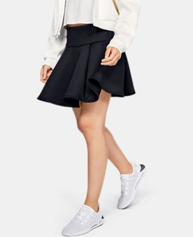 언더아머 Under Armour Womens UA Misty Skirt,Black (1329136-001)