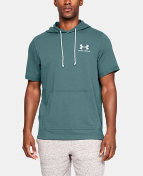 언더아머 Under Armour Mens UA Sportstyle Terry Short Sleeve Hoodie