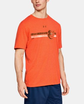언더아머 X MLB 반팔 티셔츠 Under Armour Mens MLB UA Tri-Blend Stripe Short Sleeve