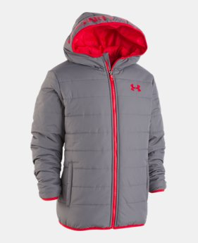 언더아머 UA 보이즈 UA 프리 스쿨 푸퍼 자켓 Under Armour Boys Pre-School UA Pronto Puffer Jacket