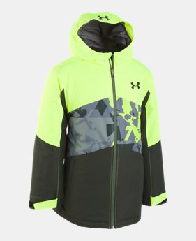 언더아머 UA 보이즈 UA 자켓 Under Armour Boys UA Zumatrek Jacket,High-Vis Yellow (1333601-731)