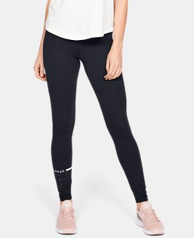 언더아머 레깅스 Under Armour Womens UA Favorite Big Logo Leggings,Black (1342638-001)