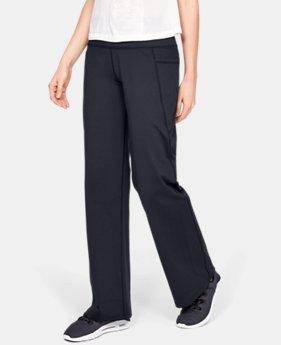 언더아머 Under Armour Womens UA All Around Wide Leg Pants,Black (1342649-001)
