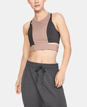 언더아머 Under Armour Womens UA Misty Signature Crop Top,BASHFUL PINK (1343667-600)