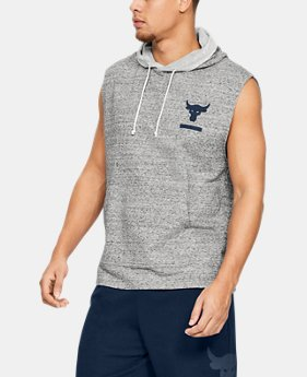 언더아머 Under Armour Mens Project Rock Terry Sleeveless Hoodie