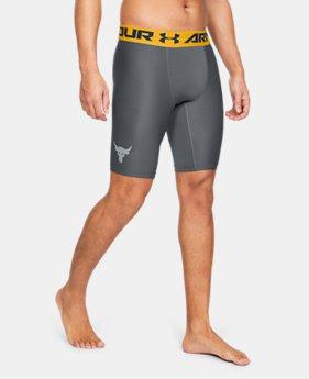 [언더아머 프로젝트 락 컬렉션] 히트기어 반바지 Under Armour Mens Project Rock HeatGear Armour Shorts,Pitch Gray (1345823-012)
