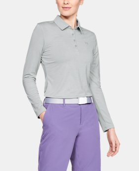 언더아머 우먼 UA 폴로 셔츠 Under Armour Womens UA Zinger Long Sleeve Polo