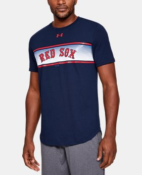 언더아머 MLB 반팔 티셔츠 Under Armour Mens MLB UA Seam To Seam T-Shirt,MLB_BOS_Navy (1348930-421)