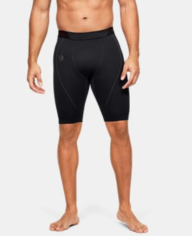 언더아머 남성 반바지 Under Armour Mens UA RUSH Seamless Long Shorts,Black (1351455-001)