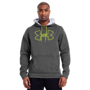 Under Armour Armour Fleece Storm Outline Big Logo Hoodie