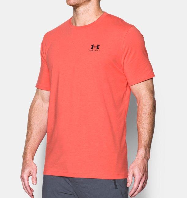 T shirt ua sportstyle left chest logo pour homme under for T shirt left chest logo size